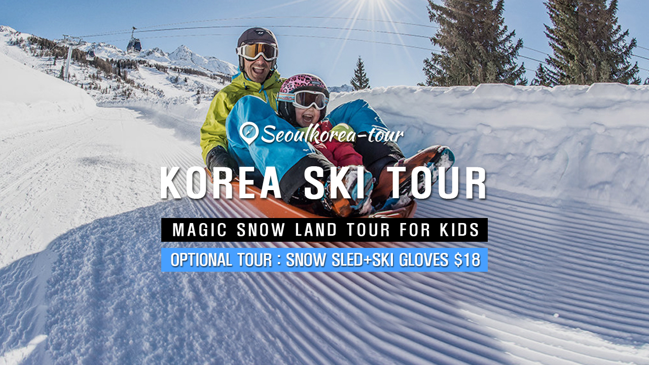 KOREA SKI TOUR | Magic Snow Land Tour For Kids